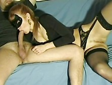Masked Mature Whore Sucks Big Cock Like A Pro