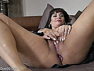 Big Ass Brunette Milf Fingering Her Tight Shaved Pussy Solo