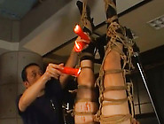 Bounded Preggo Yuri Matsushima Receives Hot Wax Punishment