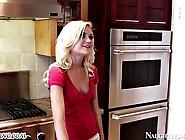 Slutty Blonde Teen Seduced Her Mother's Lover