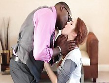 Pretty Redhead Teen Amarna Miller Nailed By Big Black Cocks