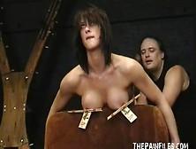 Amateur Bdsm And Boobie Torture Of Slavegirl Danii Black