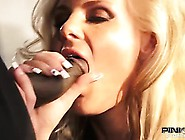 Blonde Villain With Big Tits Sucking Black Cock