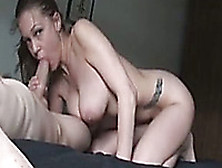 My Buxom Girlfriend With Pierced Navel Is Good At Giving Blowjob