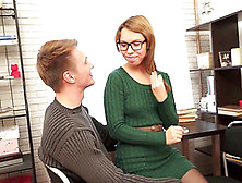 Sexy Green Sweater Dress On The Teen Nerd He Bangs