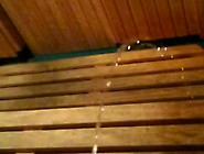 Pissing In The Gym Sauna.  My First Ever Vid! Vid 1