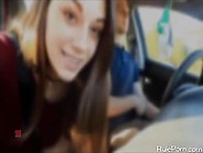 Amateur Babe Sucking A Big Cock In The Car