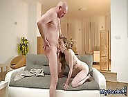 Elderly Man Got A Blowjob From A Frisky,  Russian,  Blonde Chick B