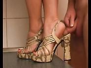 Shoejob And Heel Job Between Foot And Shoe