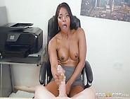 Busty Ebony Milf Jasmine With Lusty Pussy Rides Meaty Big White
