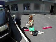 Adorable Redhead Slut Paid Parking Penalty With An Amazing Blowj
