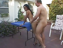 Exotic Chick Gets Fucked In The Missionary Pose In The Yard