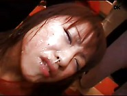 Japanese Sub Shamed Into Public Facial Cum Walk