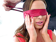 Blindfolded Nikki Benz And The Massive Dick Of Her Newest Buddy