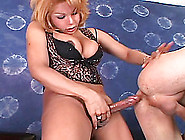 A Packing Shemale Strokes,  Sucks And Cums On A Guy