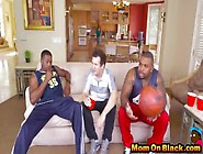Hot Milf Banged With Two Black Cocks