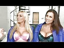 Threesome With Two Busty British Girls