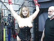 Nice Plump Blonde Milf Is Bound And Disciplined By An Old Fat Gu