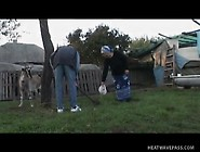 Turned-On Old Girl Rides Prick In Wet Backyard Sex Bad Granny
