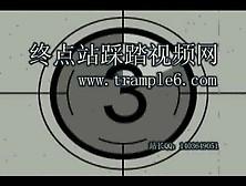 Chineese Blue Pantyhose Tramlping Worship Ballbusting
