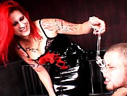 Bound Stud Slave Gets His Ass Whipped Raw By His Fire-Haired Mis