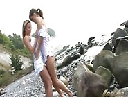 Two Hot Young Lesbians On Norwegian Sea Beach