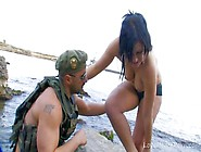 Sweet Curvy Busty Babe Banged Hard By Soldier