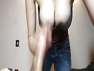 Biggest White Penis Milked On Her Large Milk Shakes