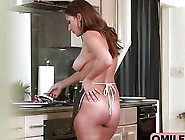 Big Booty Milf Maid Seduced Big Cock Boss By Working In Full Nak