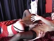 Lesbian Babe In Nylons Finger Fucks And Licks Wet Pussy