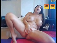 Hot Milf W/ Big Tits Masturbates W/ Dildo And Squirts At The End