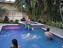 Young Girls Marissa Jordan And Skarlit Knight Fucked At The Pool
