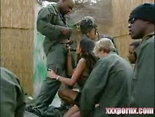 American Soldiers Captures Vietnam Girls In Abandoned Village -