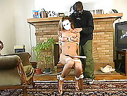 Horny Ruby Gets Tied Up And Dominated By A Man In A Mask