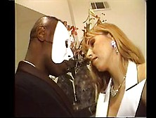 Hot blonde fucksthe black phantom