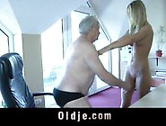 Grandpa Boss Fucks His Dummy Teen Blonde Maid