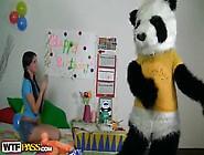 Teen Cutie Has Some Hot Sex With Panda