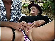 Horny Widow Blowing A Long Shaft And Getting Fucked Hard Outside