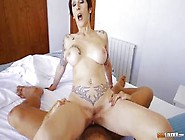 Mature Inked Slut Catalya Mia Rides Anally A Fat Dick And Gets C