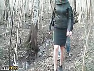 Sexy Big Tits Babe Gets A Sweet Bang In The Forest