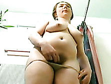 Zesty Solo With My Gf Washing Her Hairy Pussy In The Bathroom