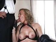 Hot Cougar Giving Sloppy Blowjob