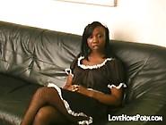 Black Maid Gets Hard Spanked