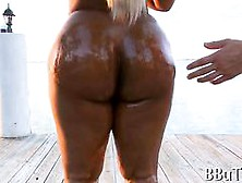 Big Ass Black Chick Oiled Up While Twerking And Riding Dick