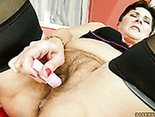 Horny Dark Head Granny With Hairy Pussy Is Poked Missionary Styl