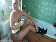 Lucy Alexandra - Smoking In Bathroom