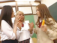 Lustful Japanese Girls Enjoy Playing Dirty Games In A College