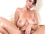 Full-Breasted Milf Washes Her Hairy Bush And Massive Hooters