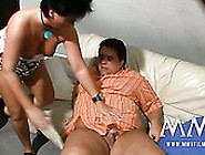 Chubby Black Haired Milf Pleases Her Fat Ugly Guy With Bj