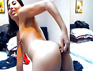 Latin Teen In A Hairy Pussy Close Up Dildo Show